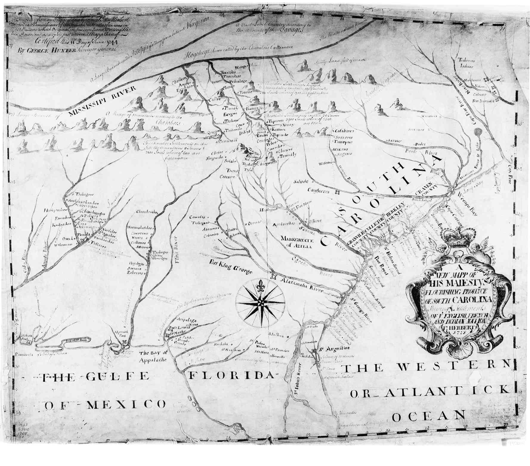Map Of Georgia Colony.Hargrett Rare Library Map Collection Colonial America