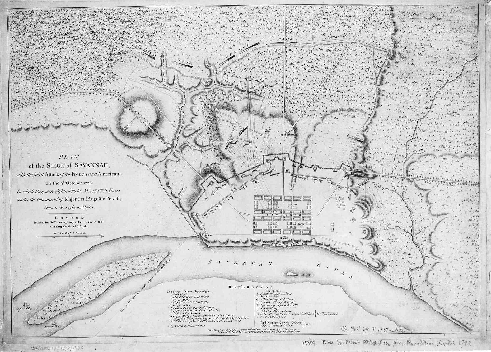 Map 1779 P4 Plan Of The Siege Of Savannah With The Joint Attack Of The French And Americans On The 9th October 1779
