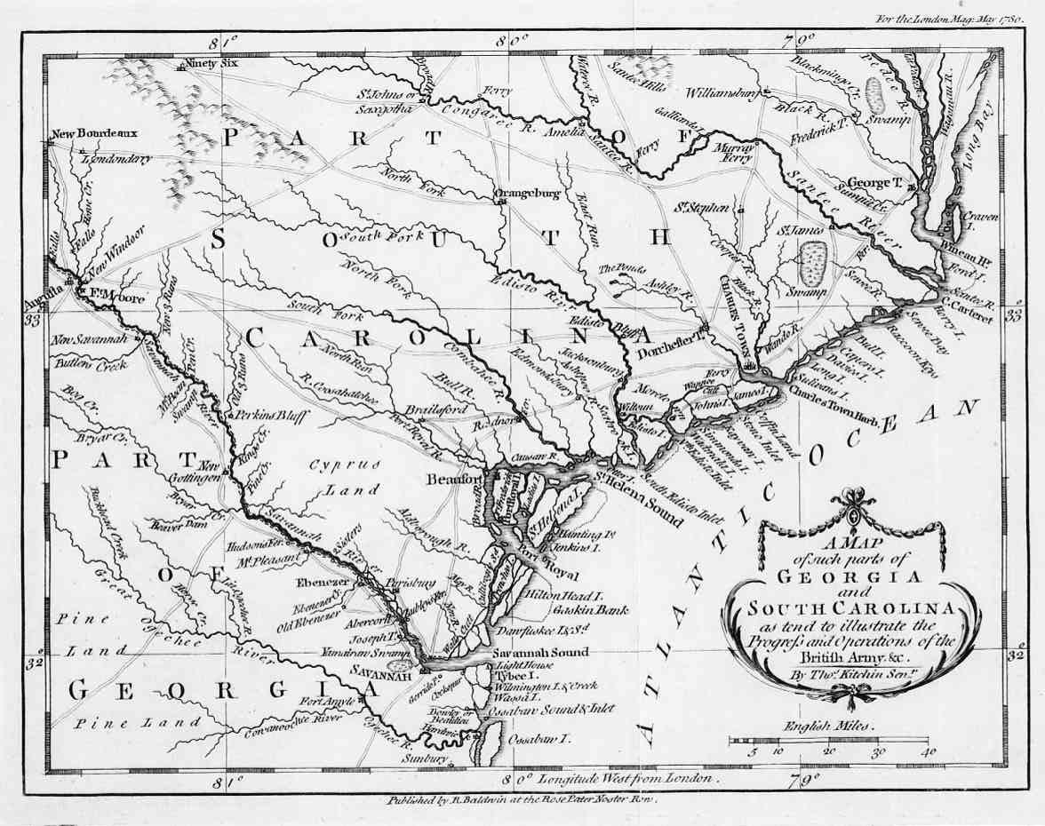 Map Of Georgia 1700.Hargrett Library Rare Map Collection Revolutionary Georgia