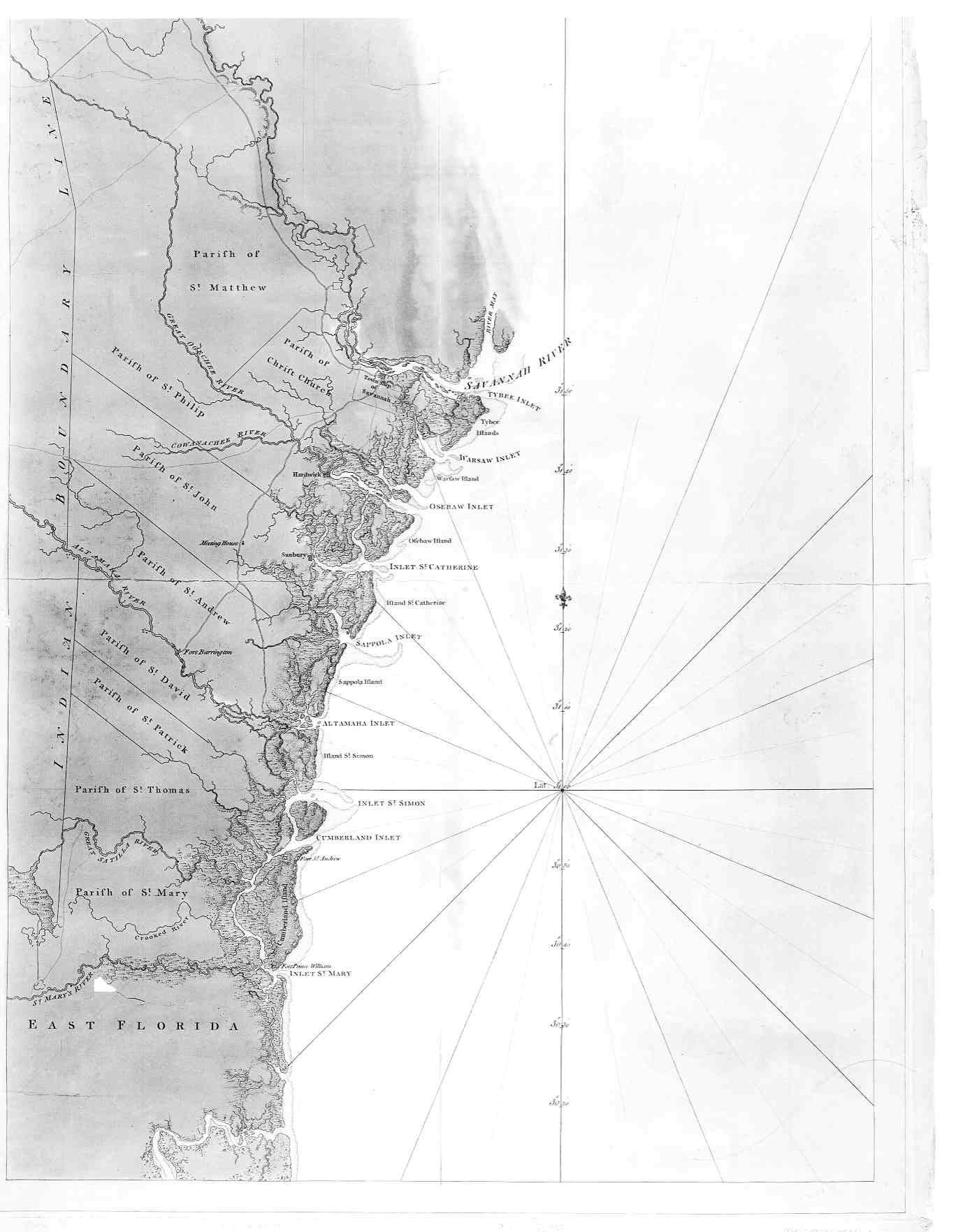 Coast Of South Carolina Map.Hargrett Library Rare Map Collection Savannah The Coast
