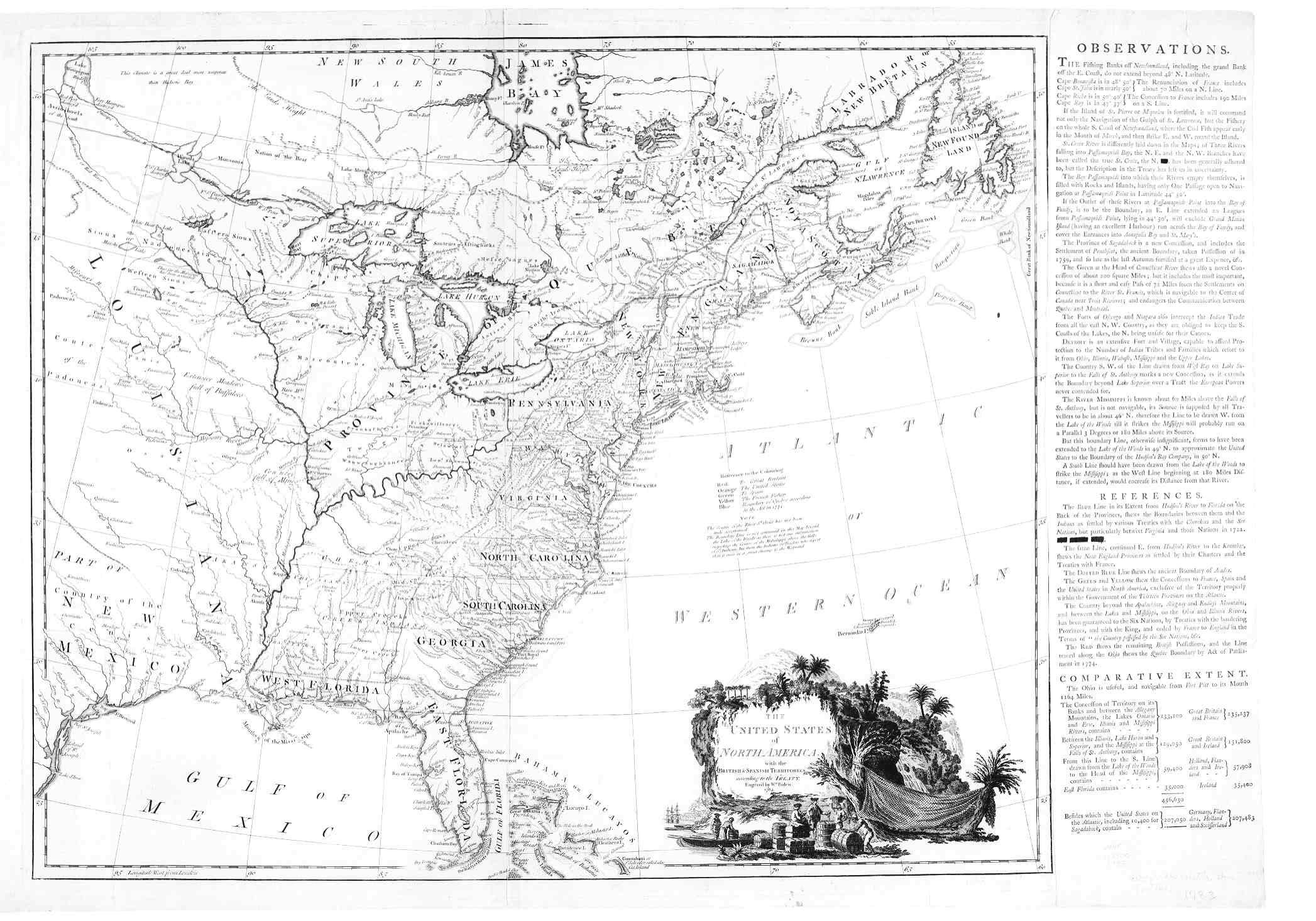 Digital History - Topographical map of us of 1783