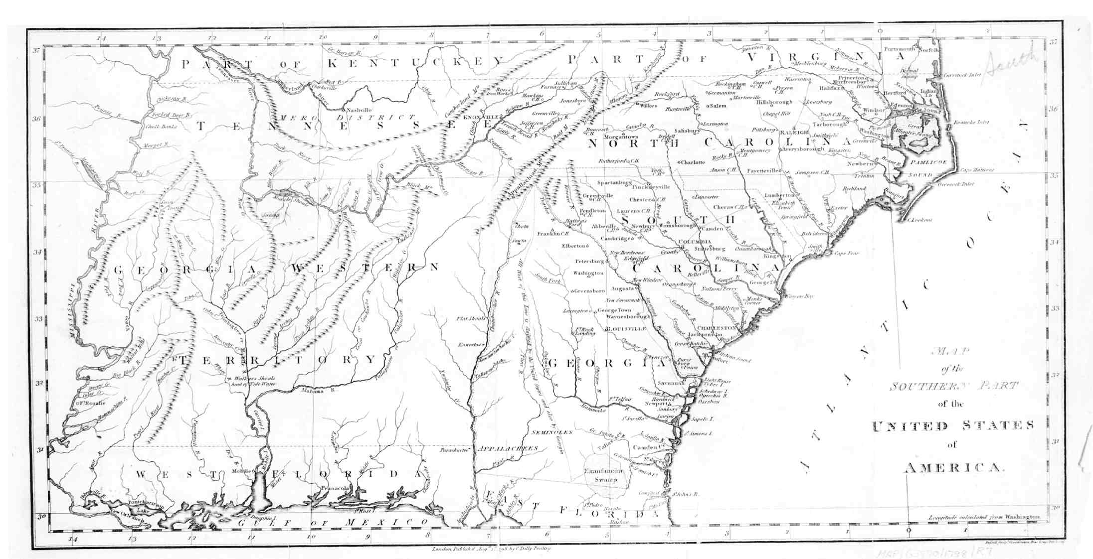 Digital History - River maps of southeast us