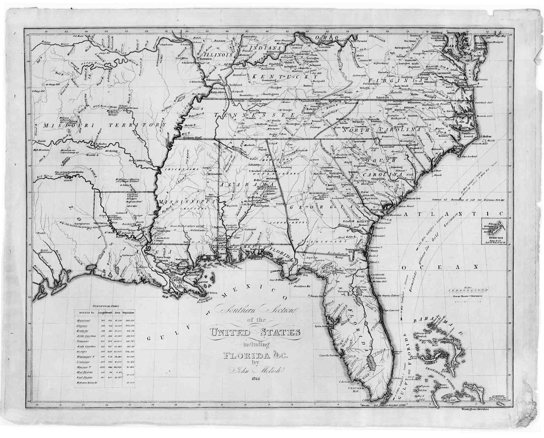 Digital History - Map of southern us