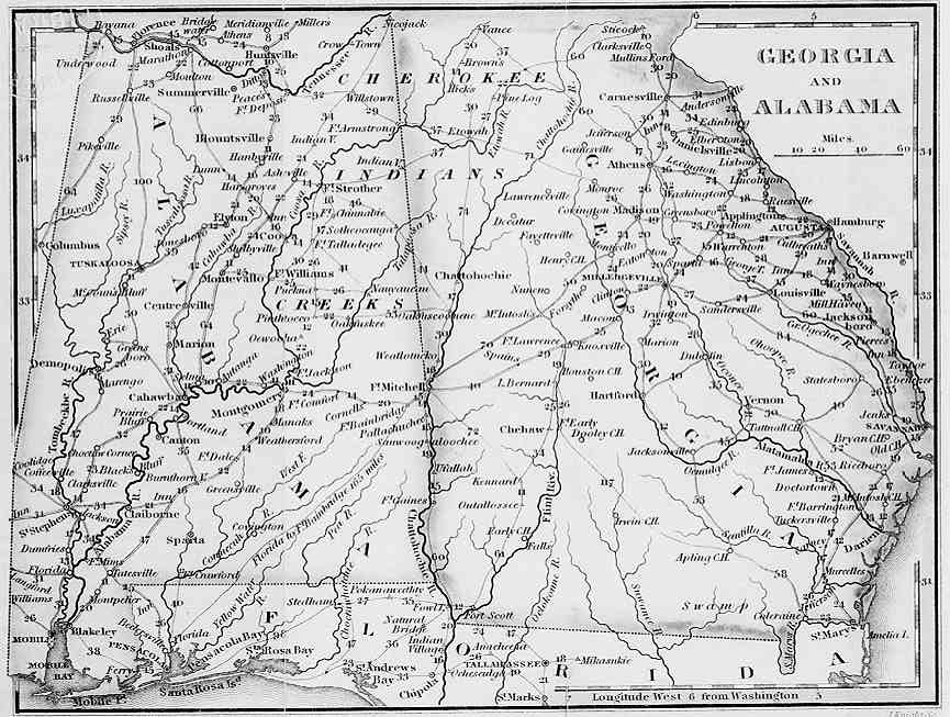Forsyth County Maps - Maps of georgia usa