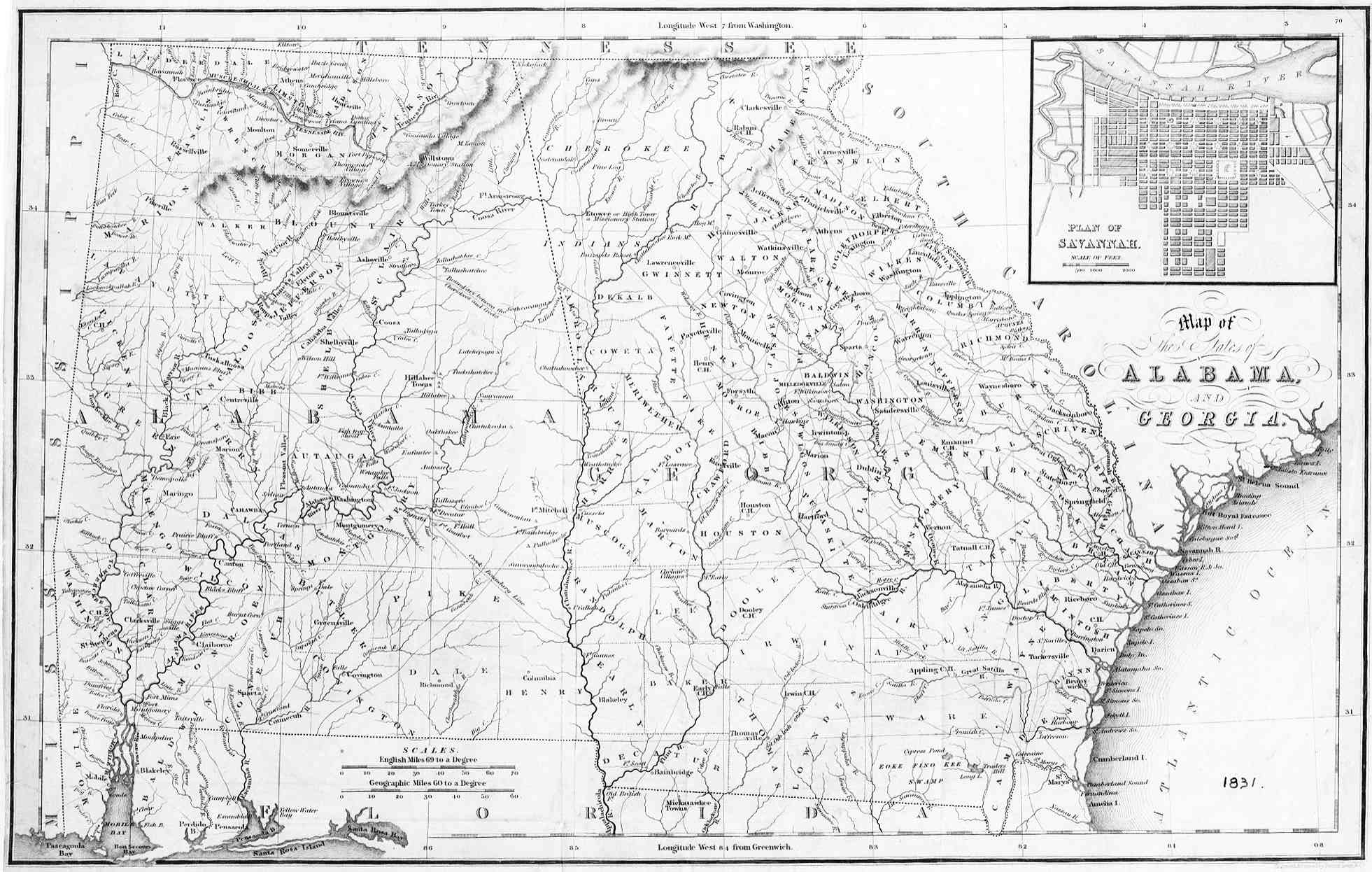 Hargrett Library Rare Map Collection - Frontier to New South