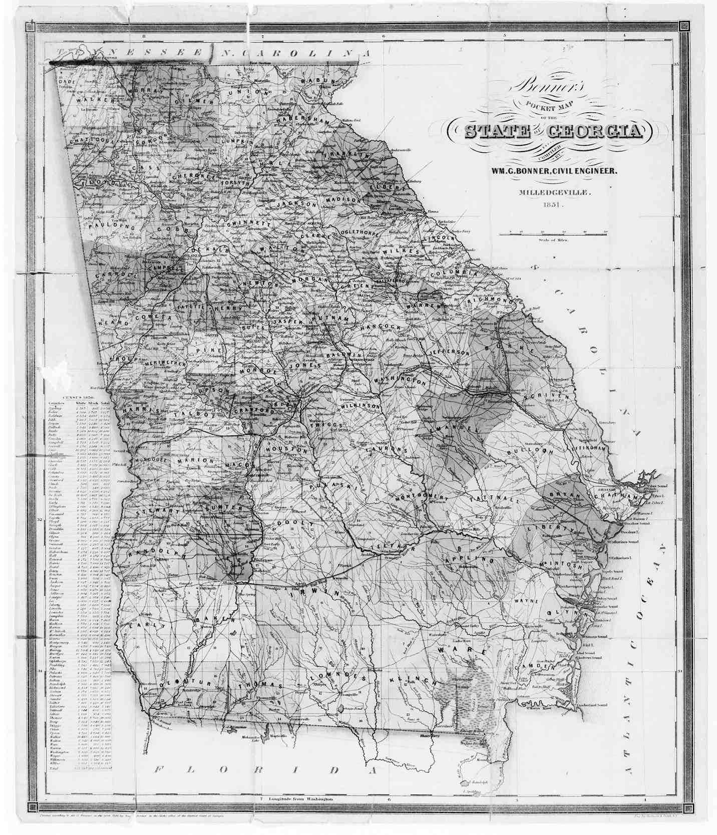 Clayton Links - Maps of georgia usa
