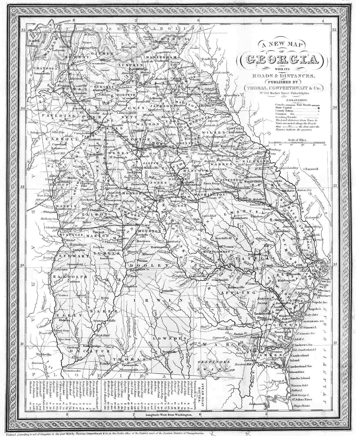 Muscogee County Maps - County map of georgia