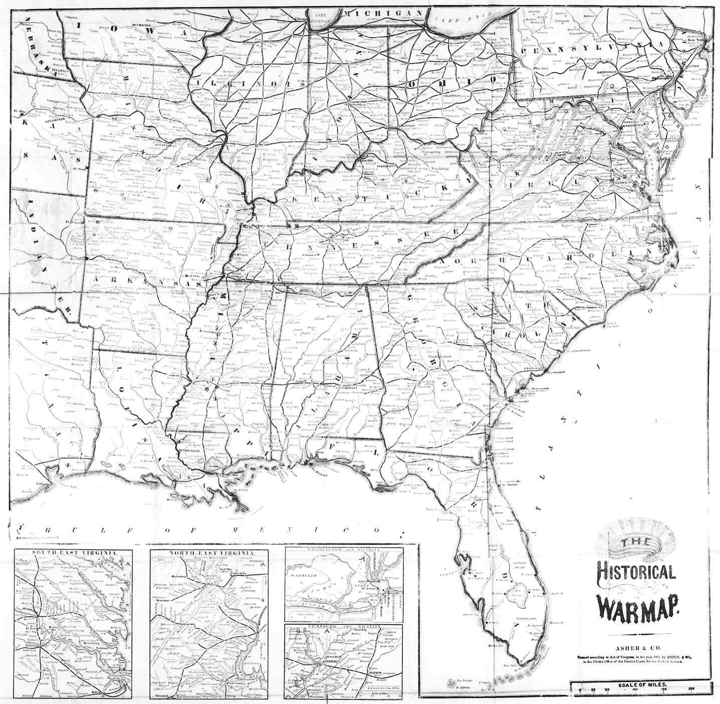 Digital History - Us in 1800 black and white map