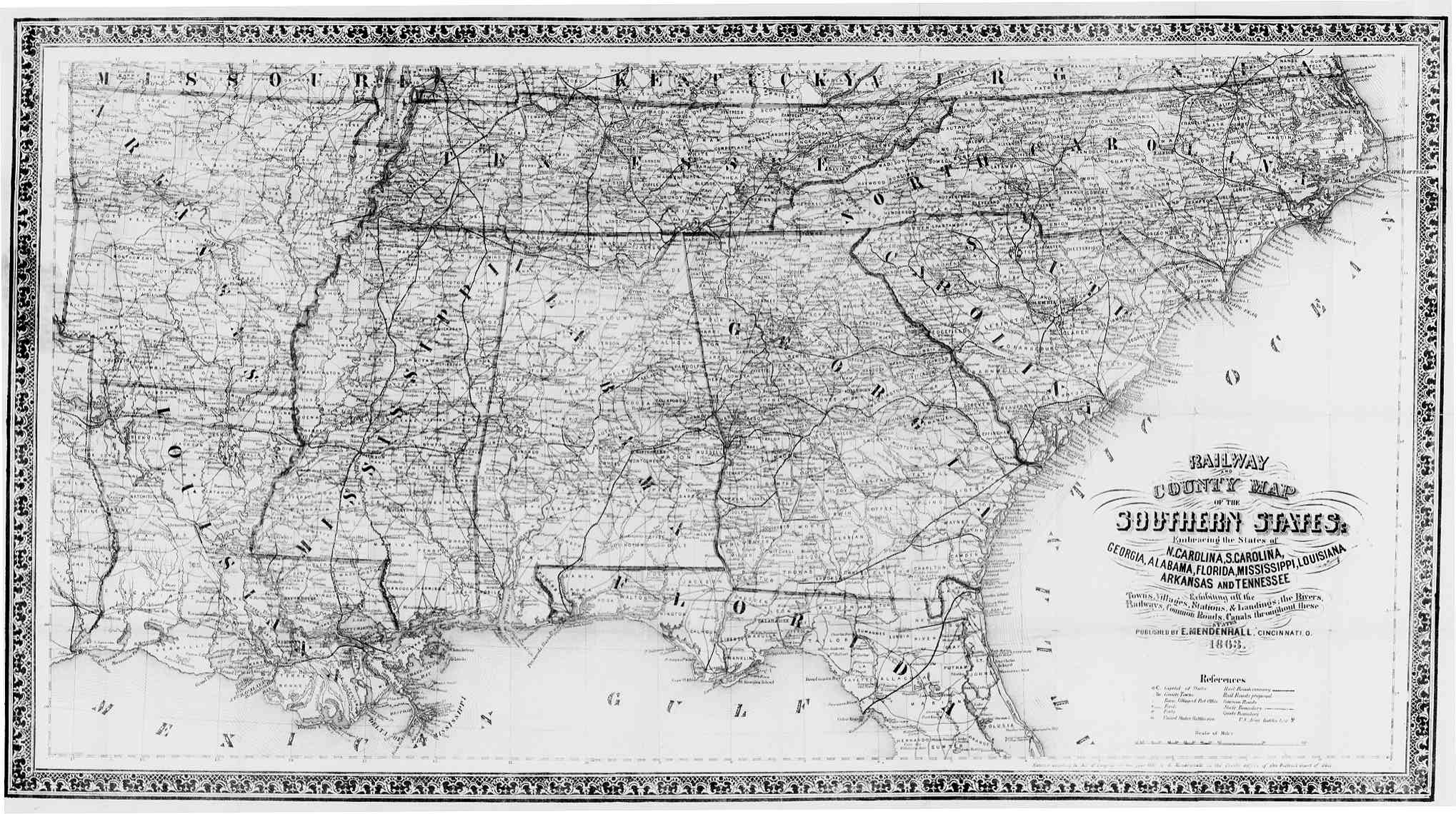 Map Of Georgia United States.Hargrett Library Rare Map Collection Transportation