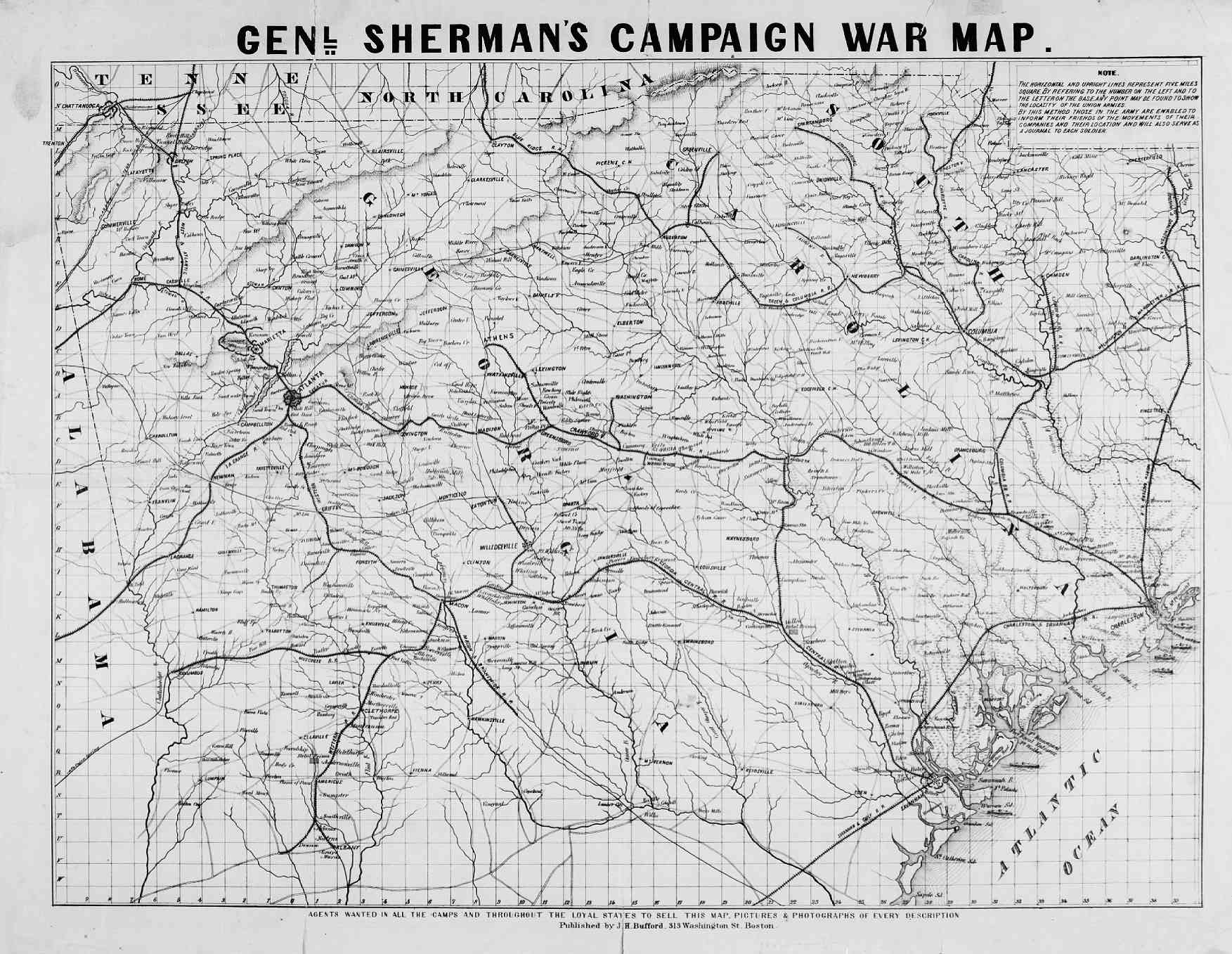 Rare Map Collection - American Civil War