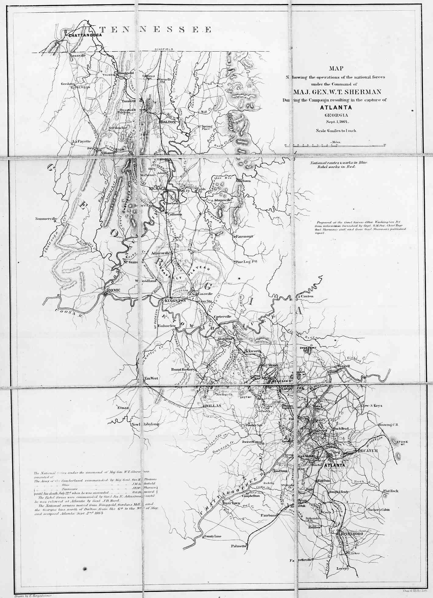 Hargrett Library Rare Map Collection American Civil War