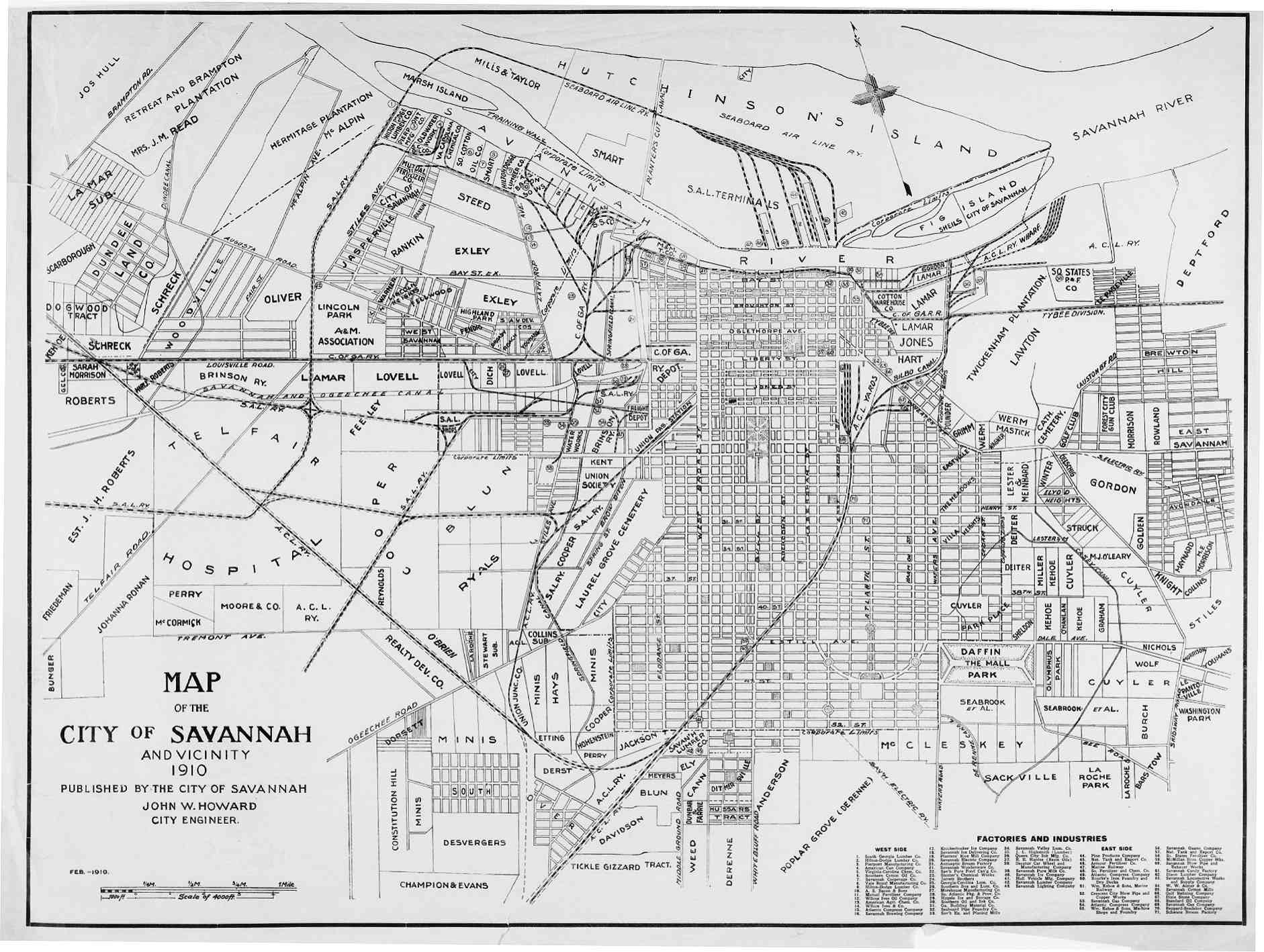 Hargrett Library Rare Map Collection Savannah the Coast