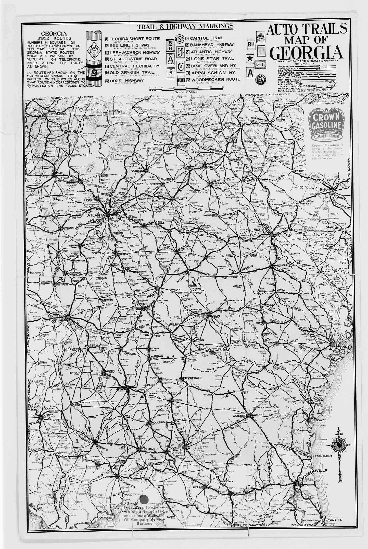 Highway Map Of Georgia.Hargrett Library Rare Map Collection Transportation