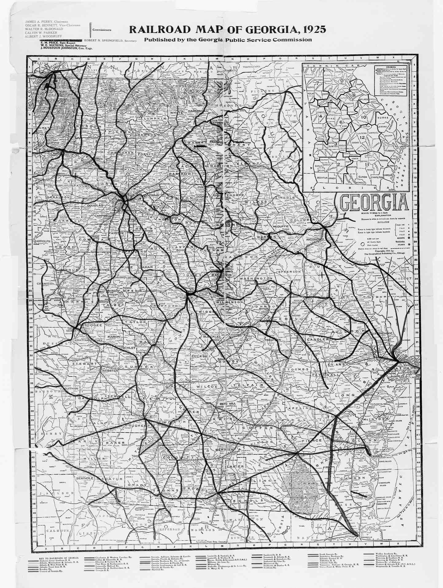 Hargrett Library Rare Map Collection Transportation