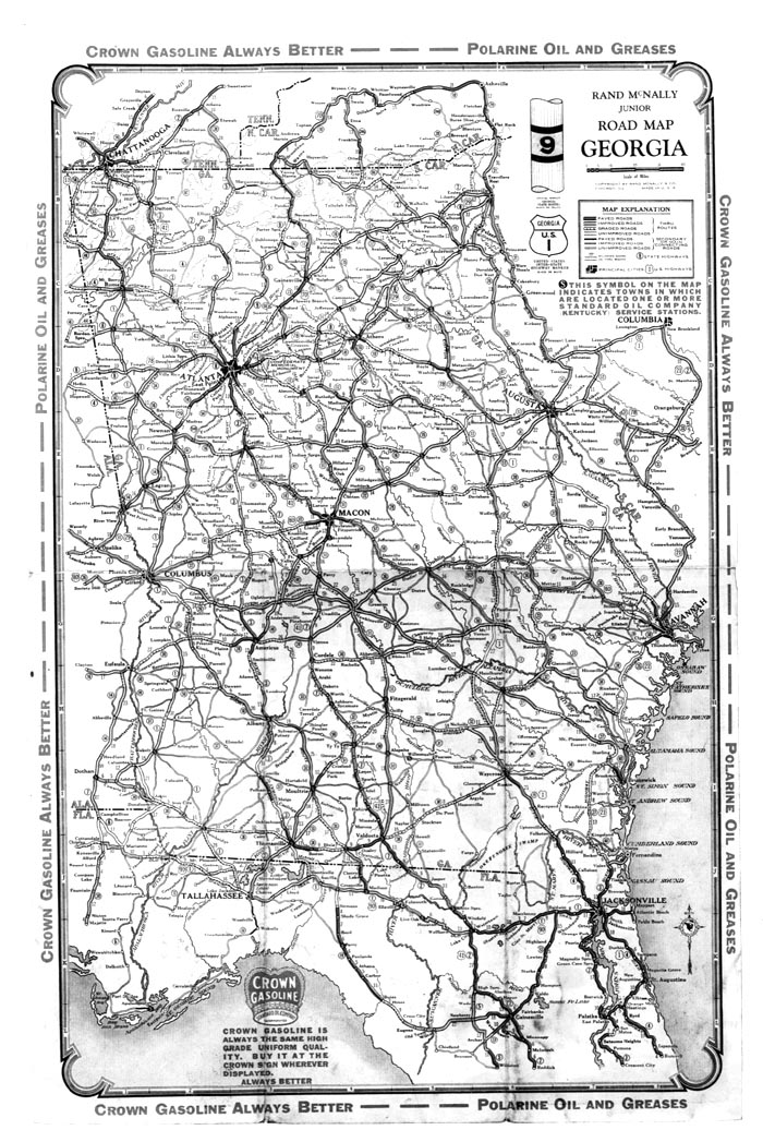Hargrett Library Rare Map Collection Transportation - Georgia road map