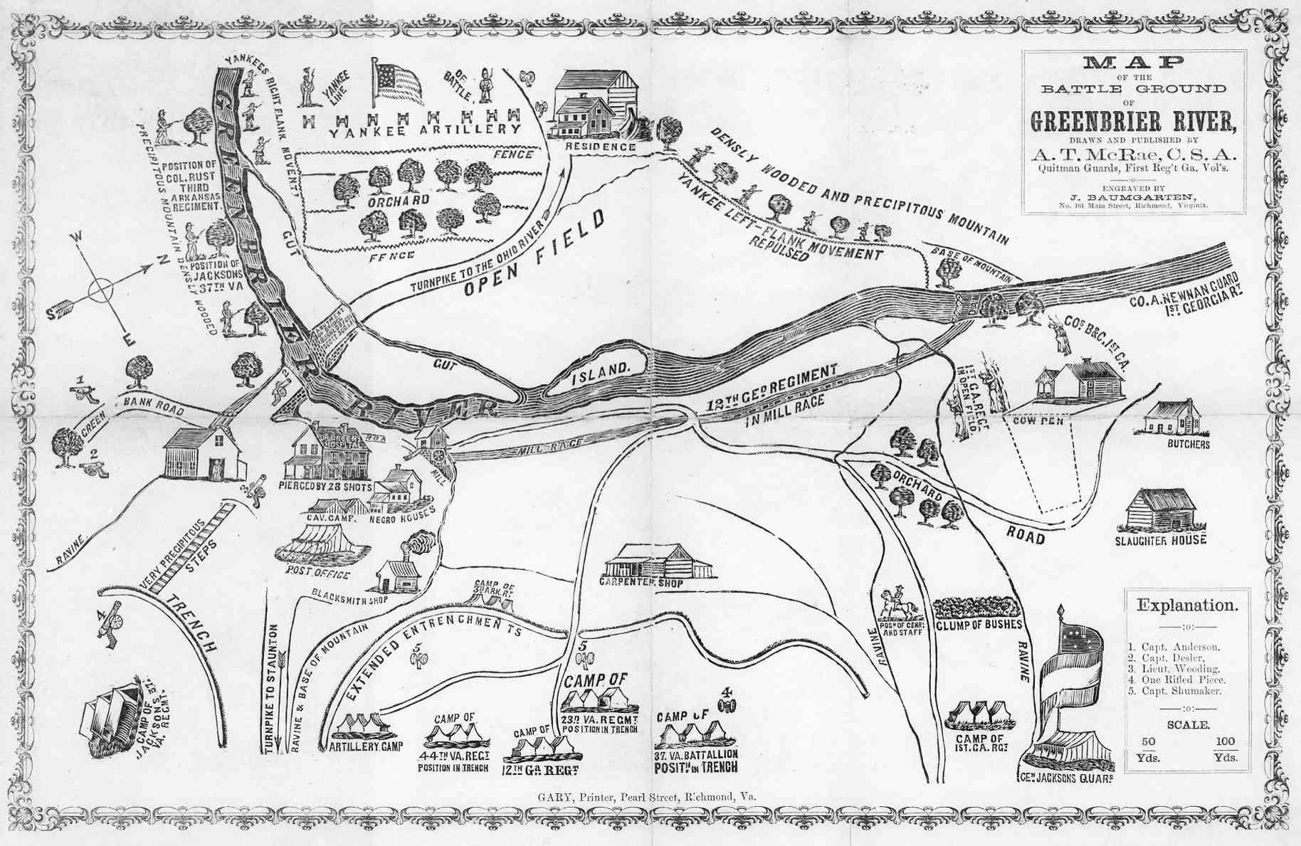 Map of old west town us