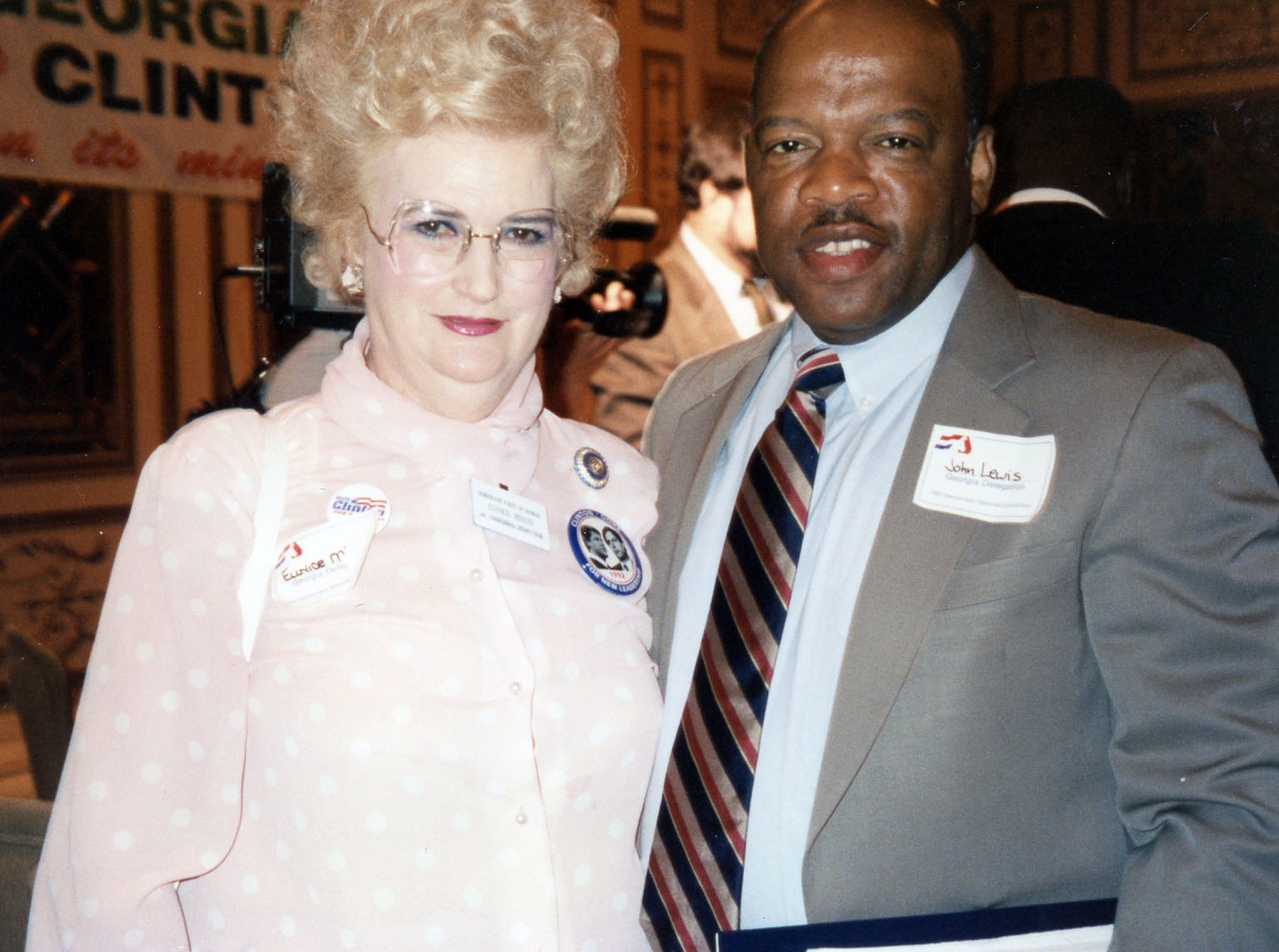 Mixon with John Lewis in 1992