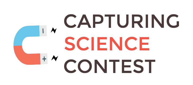 Capturing Science Contest Logo -- Magnet attracting Contest name