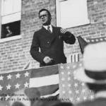Talmadge making a speech to a crowd