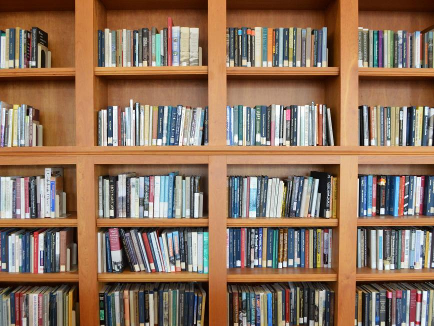 Bookshelves in MLC Reading Room