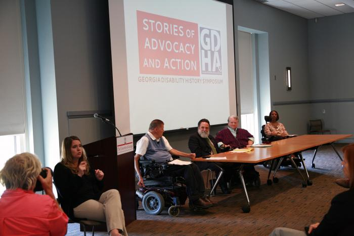 Georgia Disability History Symposium panelists in 2015.