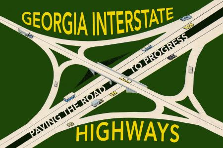 Paving the Road to Progress: Georgia Interstate Highways poster