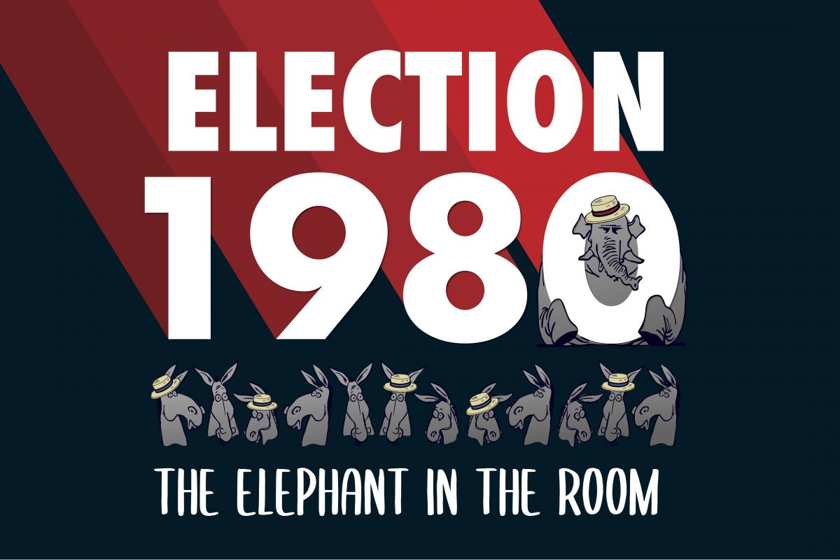 Election 1980 exhibit logo